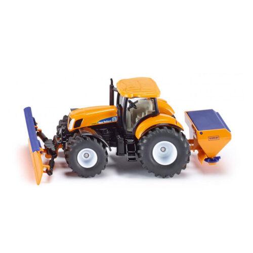 Siku 2940 New Holland Tractor con Quitanieves Salero Naranja Coche a Escala