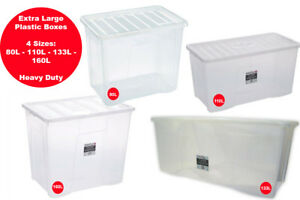 Extra Large Plastic Storage Boxes Strong Durable House