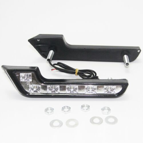 2x Bright White DC 12V 6 LED Daytime Running Light DRL Car Day Driving Fog Lamp