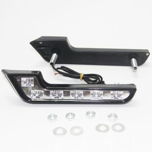 2x Bright White DC 12V 6 LED Daytime Running Light DRL Car Day Driving Fog Lamp