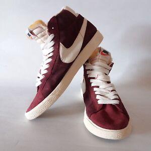Nike Blazer Mid Femmes Rouge Daim Hi top Baskets Taille UK