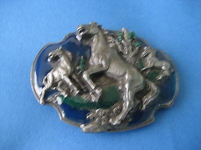 Attivo Cavalli Selvatici Mustangs Tb40 Fibbia Della Cintura ()-mostra Il Titolo Originale