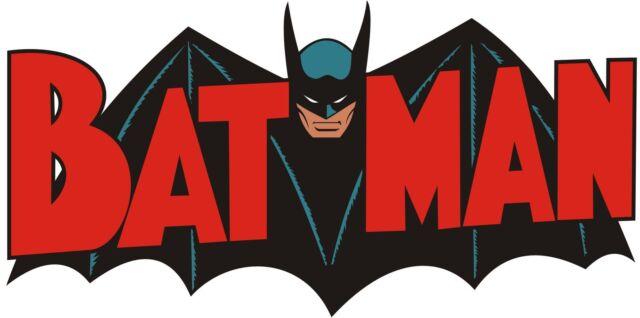 1 LARGE VINTAGE BATMAN LOGO IRON ON T SHIRT TRANSFER LIGHT/WHITE FABRICS