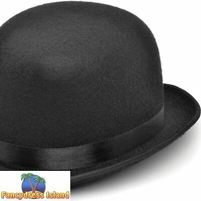 Homme Noir Velours Chapeau Melon Charlie Chaplin Laurel /& Hardy Déguisements Stag Do