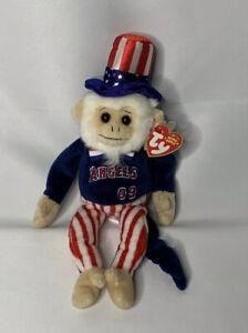 Los Angeles Angels Ty Beanie Baby Rally Monkey Doodle Dandy 2009 KIIS FM