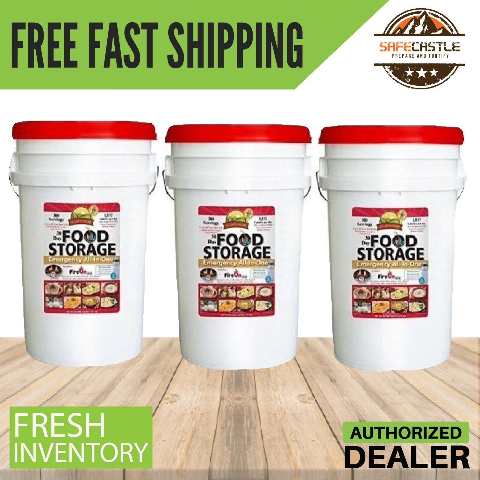 Augason Farms 3X30 Day Food Storage Emergency All-in-One Supply,3 Month Survival