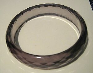Gorgeous smoky coloured faceted bangle style bracelet approx 25 ins diameter - Newent, United Kingdom - Gorgeous smoky coloured faceted bangle style bracelet approx 25 ins diameter - Newent, United Kingdom
