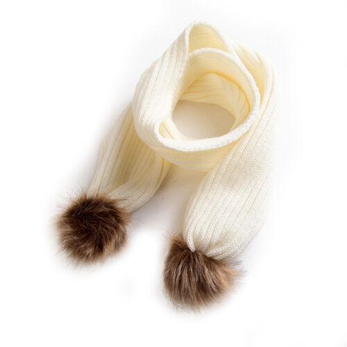 EG/_ Cute Baby Infant Toddler Neck Winter Warm Pom Pom Decor Scarf Xmas Gift Nove
