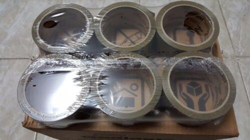 "SEALAST PP426 Tan Packing *Packaging* Tape 48mmx50m 1.89/""x54.68yds SALE:6 Rolls"