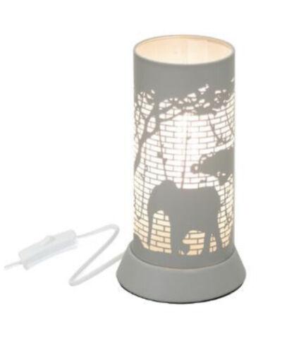 Nachttischlampe Lampe Tischlampe Kinder Elefant grau Pferd rosa