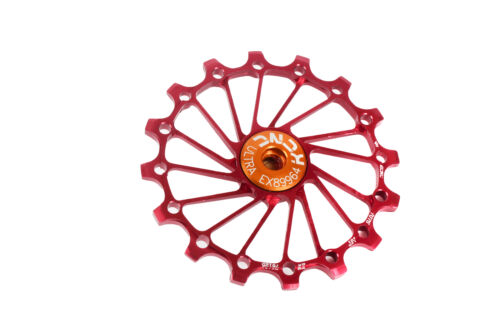 KCNC Road MTB Bicycle Bike Oversized Derailleur Pulley Sealed Bearing 16T Red