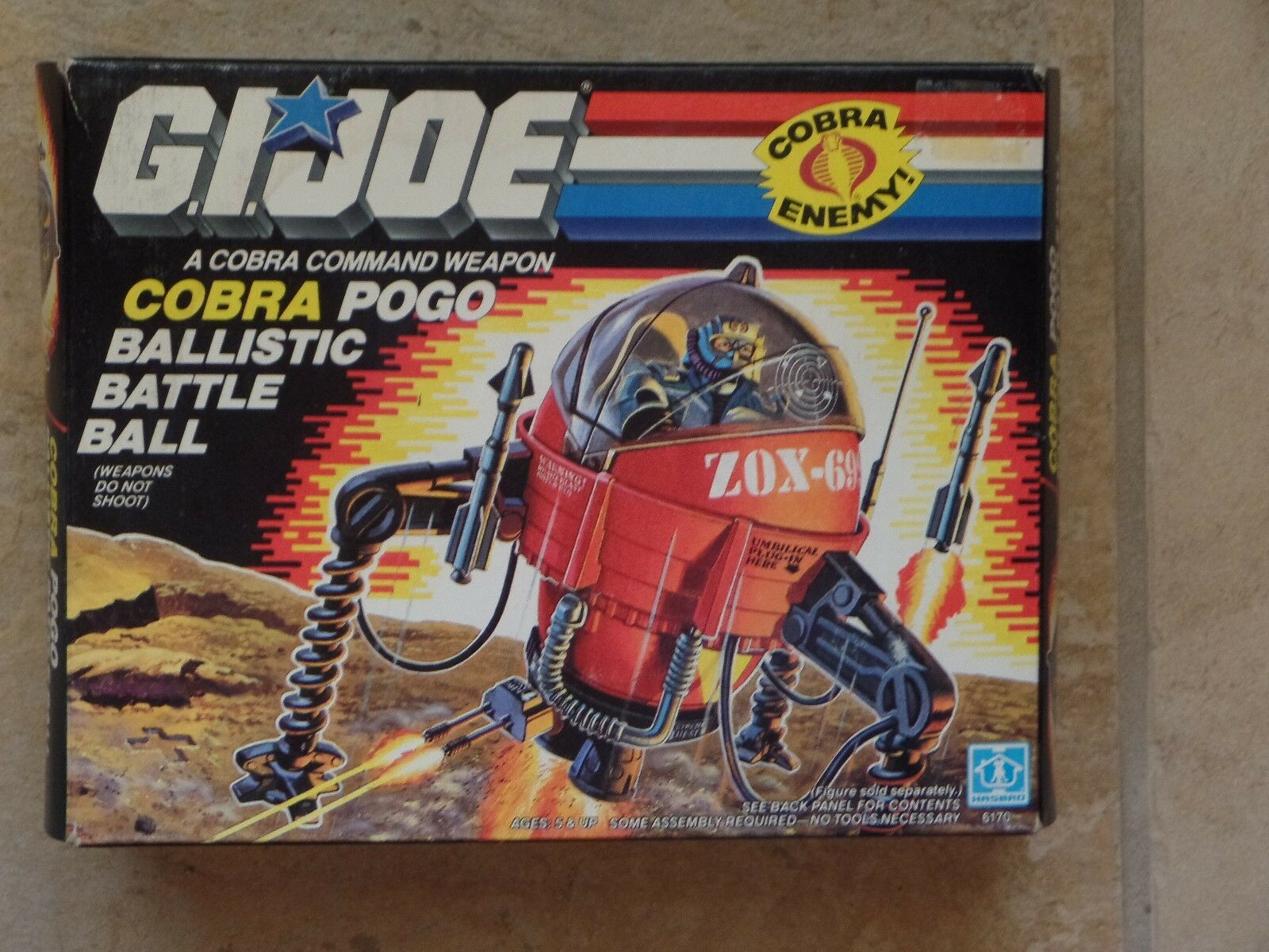 GI Joe COBRA POGO Ballistic Weapon 1987 VGC New in Opened Box - SEALED Contents