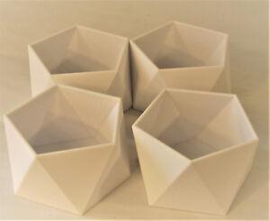 Polyhedron Dodecahedron Organizer Planter Vase Modern Geometry Bowl Display Gift