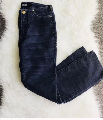 Taglia Boot Cut Jeans coste a Blue Pants Couture Navy Versace 28 Velluto x4ZnvAqnw