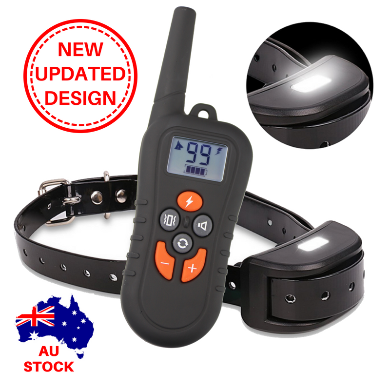 NEW DOG REMOTE COLLAR TRAINER 3 DOGS 1 Remote 500metres Waterproof rechargeable