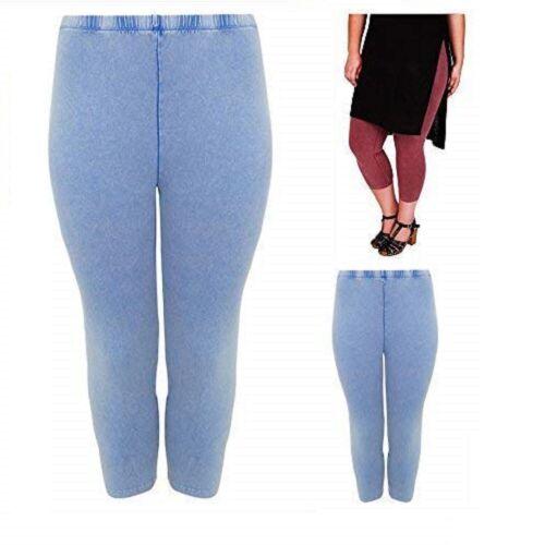 Ladies Womans Yours Leggings Bleu Ou Vin Plus Taille 16-28 UK