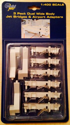 Gemini Jets 3 Pack Dual Wide Body Jet Bridges /& Airport Adapters 1:400 GJARBRDG2