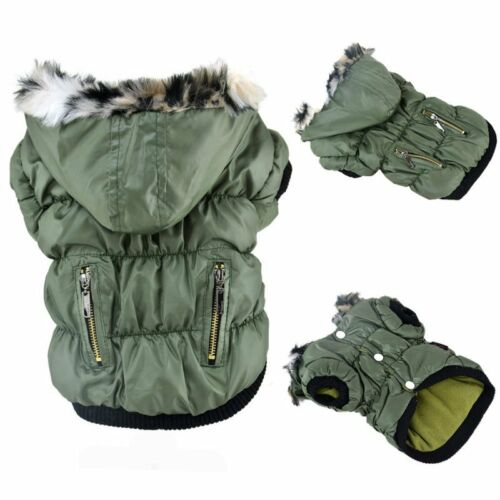 Pet Small Dog Cat Warm Cotton Hoodie Jacket Coat Puppy Winter Clothes Costume US