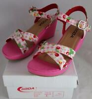 Soda Tiva Iis Girls Youth Pink Wedge Sandals