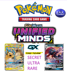 Pokemon-Unified-Minds-ULTRA-SECRET-RARE-TAG-TEAM-GX-MULTI-BUY-DISCOUNT