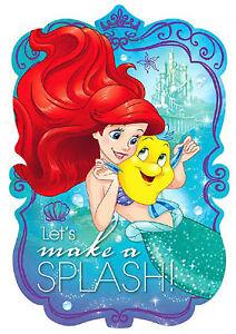 New-Disney-Ariel-Dream-Big-Postcard-Invitations-Birthday-Party-Favor-Decorations