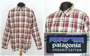 Mens-Patagonia-Organic-Cotton-Long-Sleeve-Shirt-Multicolored-Size-XXL-2XL