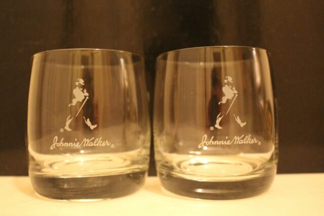 PAIR OF JOHNNIE WALKER SCOTCH WHISKY GLASSES