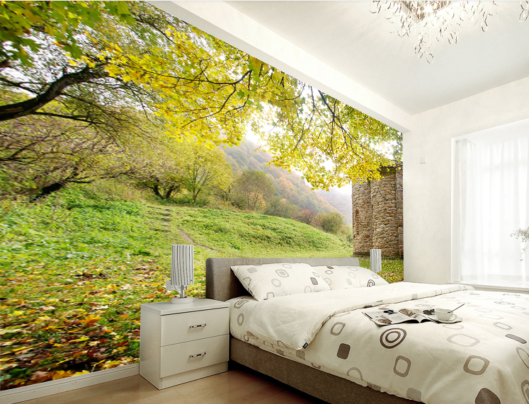 3D Forest Entrance 240 Wall Paper wall Print Decal Wall Deco Wall Indoor Murals