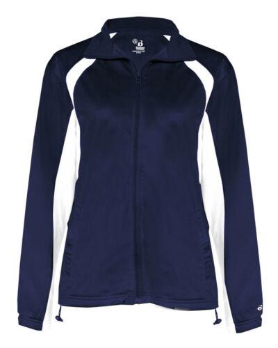 7902 Badger Women/'s Elastic Cuff Full Zip Polyester Front Pockets Jacket XS-2XL