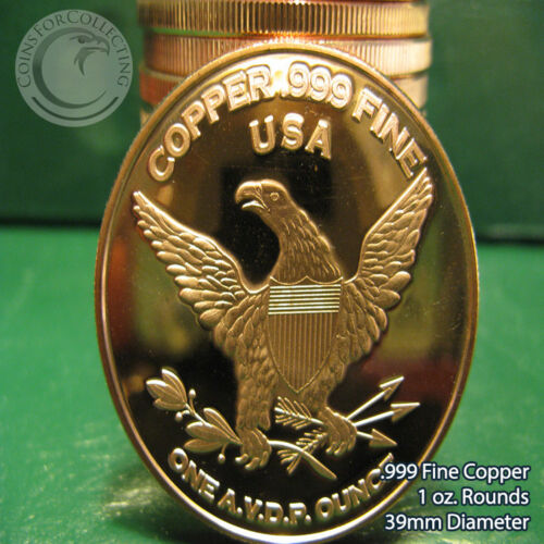 """20 /""""Cannabis Legalize It/"""" 1oz .999 Copper rounds 1 Roll in Tube"""