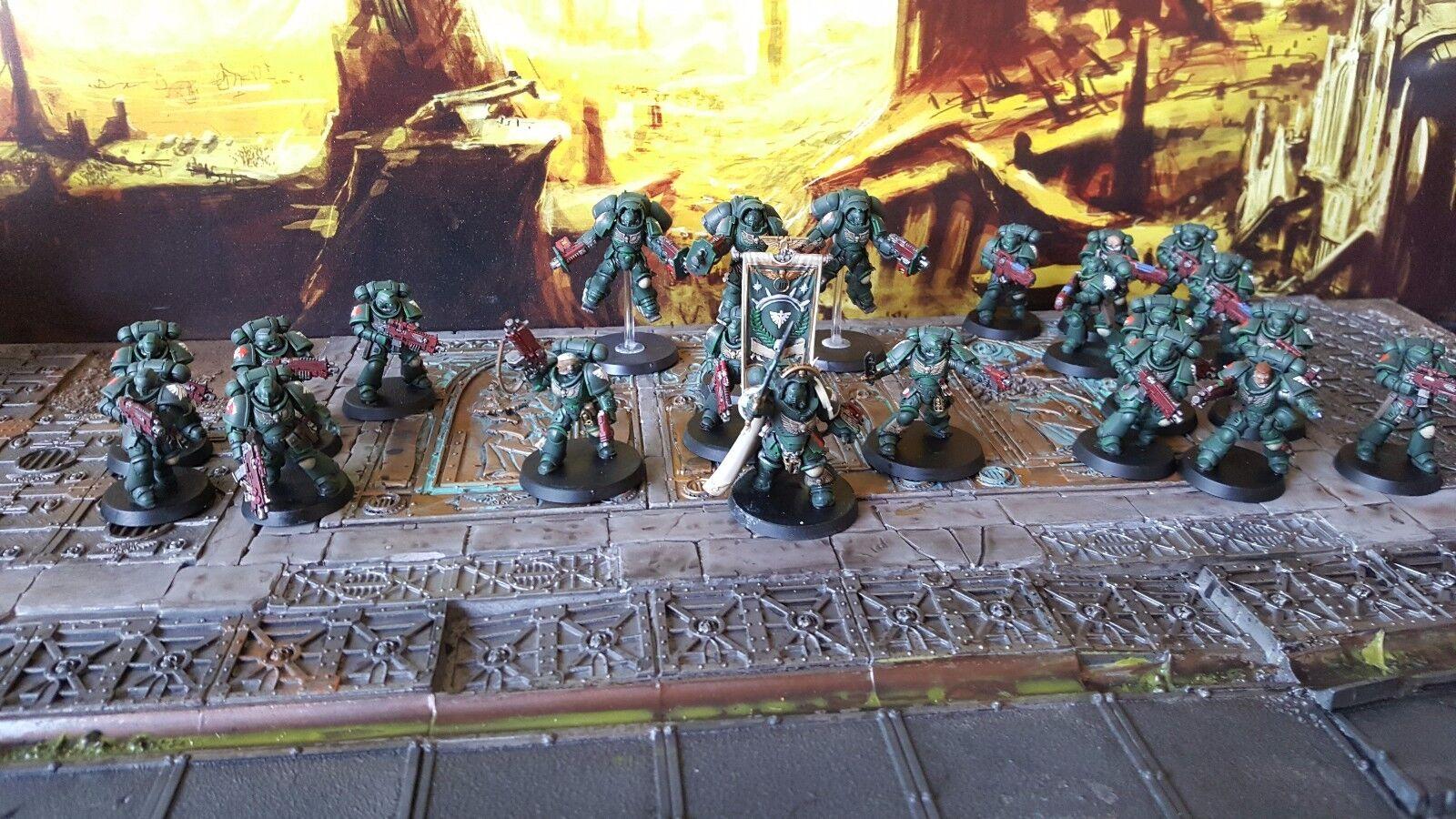 Primaris space marines army dark angels  Pro painted  made to order