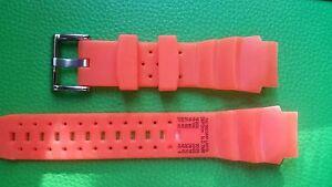 WATCH-BAND-BRACELET-MONTRE-PVC-orange-20mm-REF-CM18