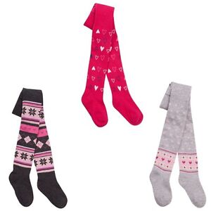 Baby Girls Tick Tock Pink//Red Plain Tights 0-24 Months