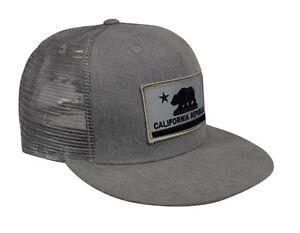 a22e558244291 California Republic Trucker Hat by LET S BE IRIE - Gray Denim