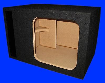 "12"" SINGLE SQUARE HOLE L3 L7 SLOT PORTED VENTED SUBWOOFER SUB ENCLOSURE BOX"