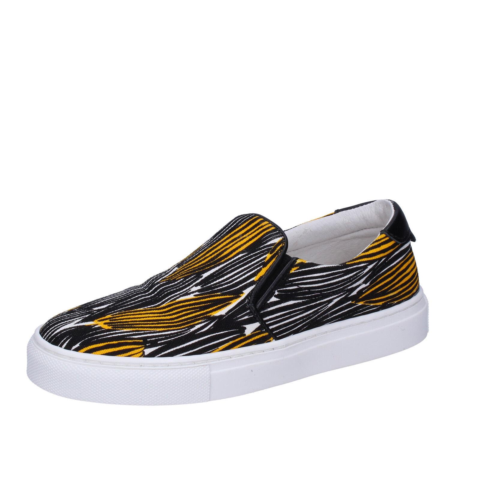 Femme Chaussures LIU JO 3 (UE 36) Lacet Noir Jaune en Toile BT578-36