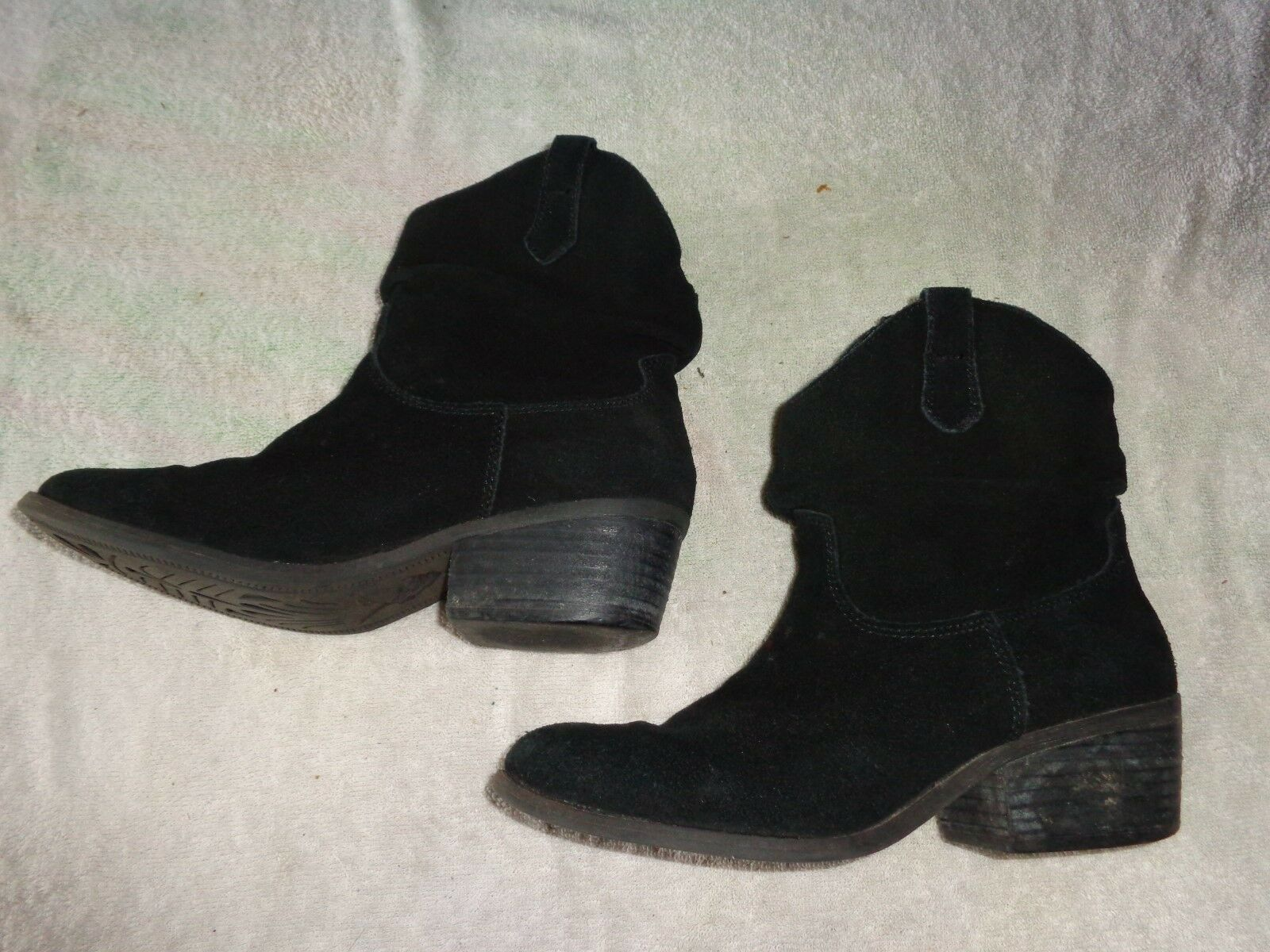 WHITE MOUNTAIN WESTERN BLACK BOOTS WOMENS SIZE 7 1/2 M
