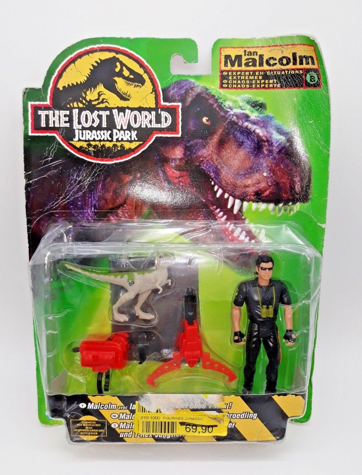Jurassic park der verlorenen welt komplett ian malcolm moc versiegelt neue tri - logo, 1996
