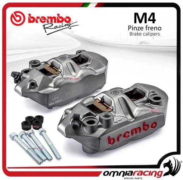 Paire Étriers frein Brembo M4 + espaceurs KAWASAKI ZX 10 R 2011 (+ ABS) dsk320