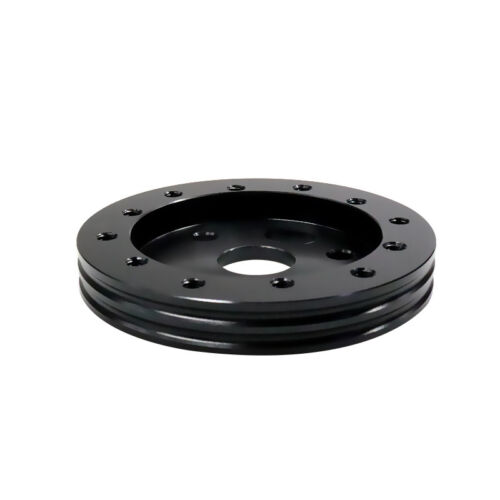 """0.5/"""" Hub For 6 Hole Car Steering Wheel To Fit Grant APC 3 Hole Adapter Black"""