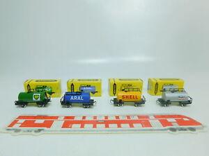 Bp376-0-5-4x-Trix-schiebetrix-vagones-833-shell-834-835-838-reedicion-OVP