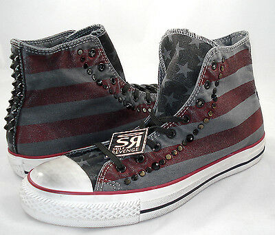 New Converse Chuck Taylor All Star Washed Canvas USA Studded Country Red White   eBay