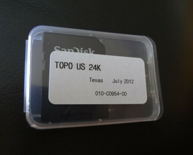 Garmin Topo Us 24k Texas Maps On Micro Sd 010 C0954 00 For Sale - Topo-us-24k-maps