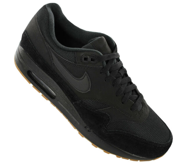14506cf44ef Nike Air Max 1 Mens Ah8145-007 Black Gum Medium Brown Running Shoes ...