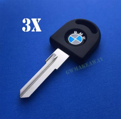 3x BMW 3 5 6 7 SERIES E12 E23 E24 E28 E30 M3 M5 M6 Key Blank Uncut Switch