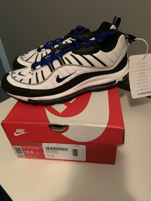 Men's Nike Air Max 98 Sprite Size 12.5 Sneakers 640744-103 New Authentic