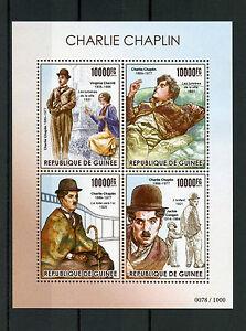 Guinea 2015 MNH Charlie Chaplin 4v M/S Jackie Coogan The Kid Virginia Cherrill