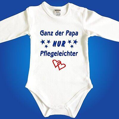 Babybody Baby Body Ganz der Papa NUR Pflegeleichter Strampler Babyparty Papa