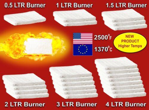 X Spugne Lana in Ceramica bio-etanolo bruciatore CAMINO Tofit 1//2//3//4Ltr camera di carburante