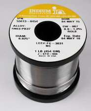"Indium No-Clean Rosin Solder 52905-0454 // Sn63 Pb37 1/% CW807 .032/"""